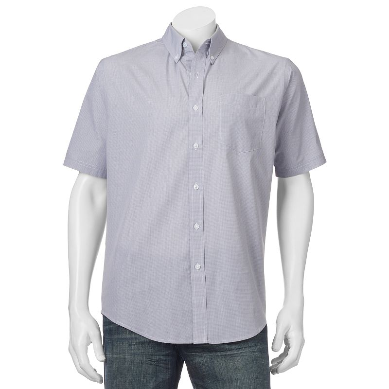 Men's Croft & Barrow® Classic-Fit Houndstooth Easy-Care Button-Down Shirt