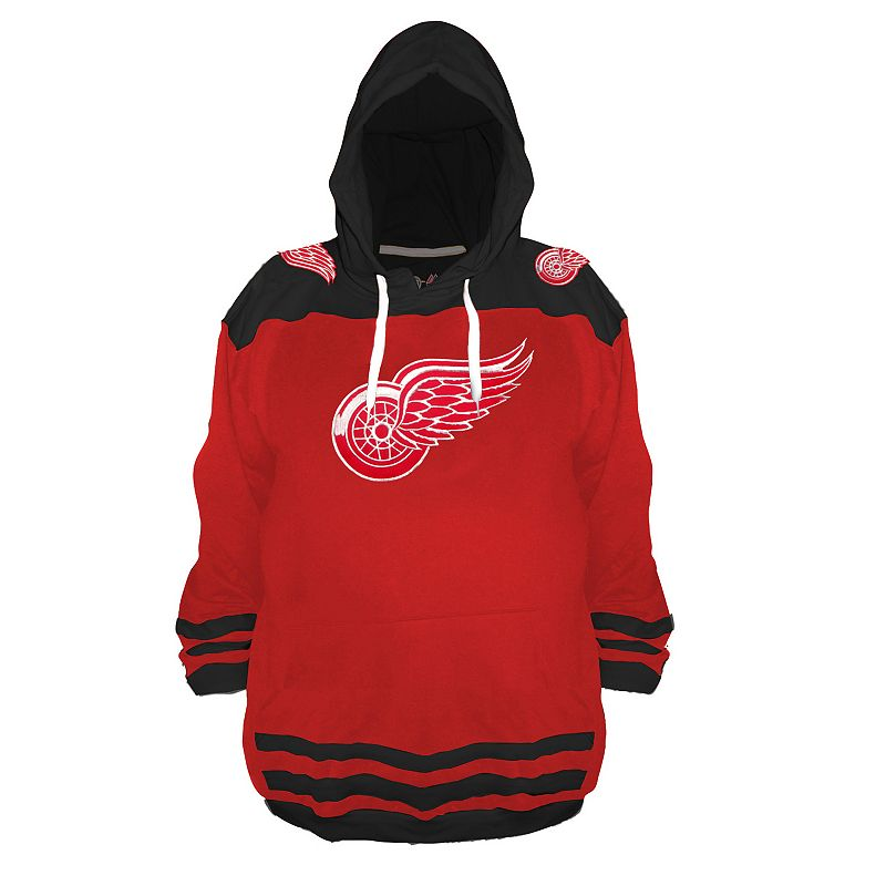 Boys 8-20 Majestic Detroit Red Wings Pullover Hoodie