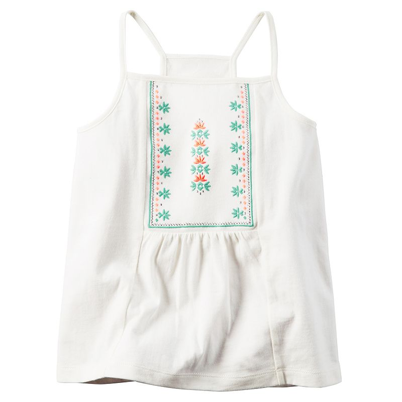 Girls 4-8 Carter's Embroidered Tank