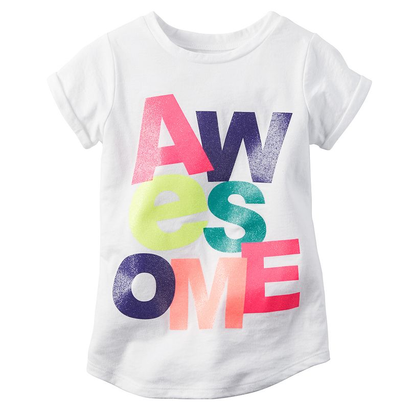 Girls 4-8 Carter's Graphic Active Tee