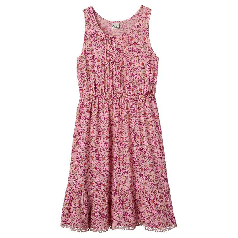 Girls 7-16 & Plus Size Mudd® Ruched Pom-Pom Tank Dress