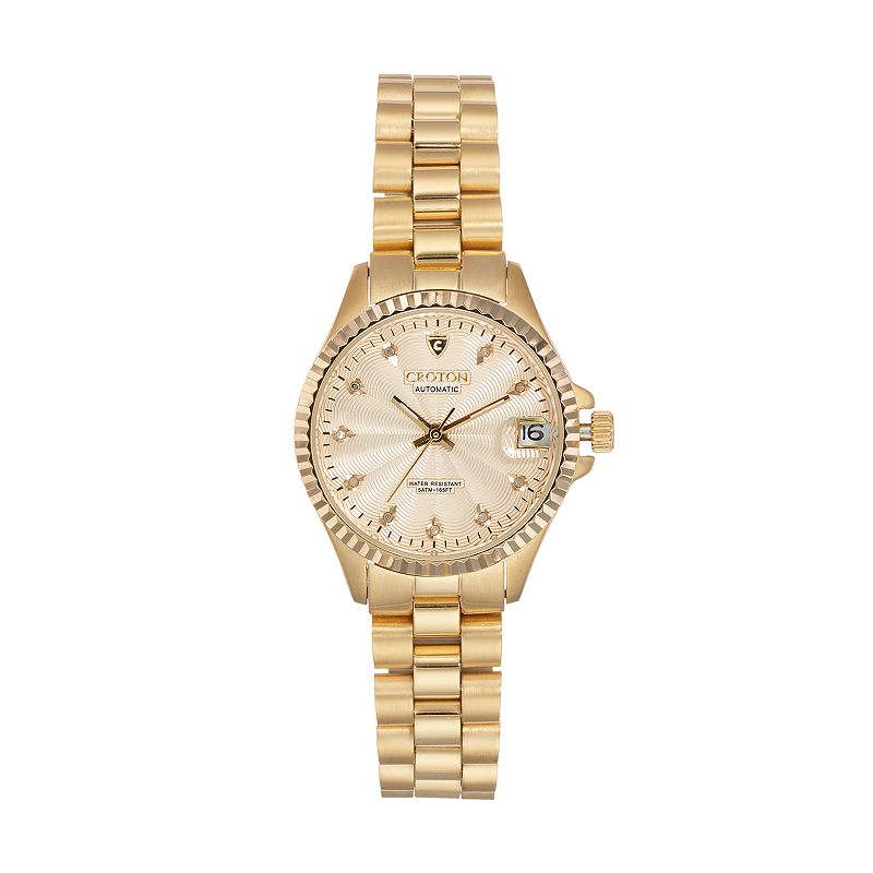 Croton Women's Heritage Diamond Stainless Steel Automatic Watch