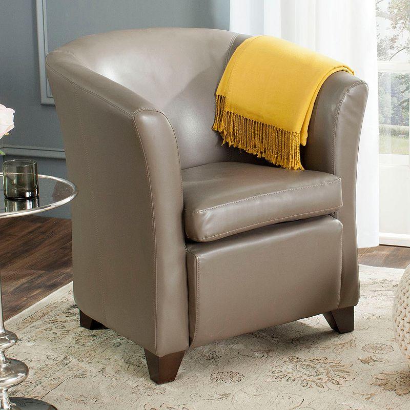 Safavieh Lorraine Leather Tub Arm Chair