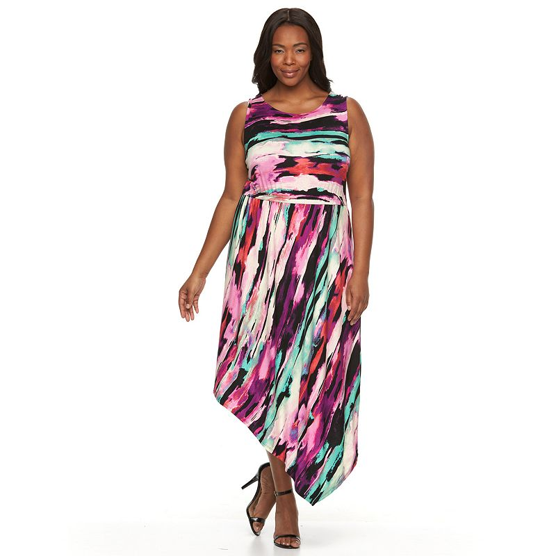 Plus Size Apt. 9® Asymmetrical Hem Dress