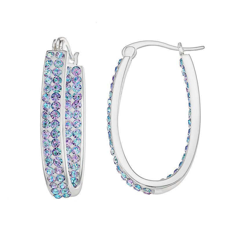 Crystal RadianceInside-Out Oval Hoop Earrings