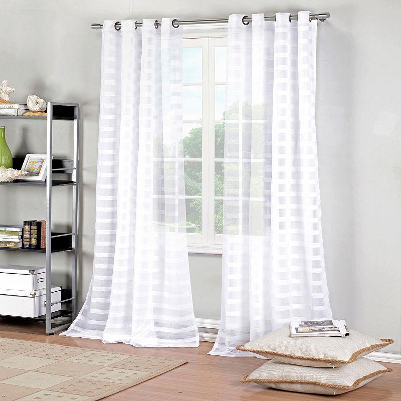 Duck River 2-pack Capri Textured Sheer Curtains - 52'' x 84''