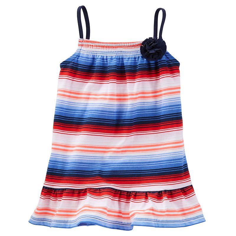 Toddler Girl OshKosh B'gosh® Smocked Patterned Peplum Tunic