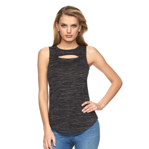 Women's Juicy Couture Marled Cutout Tank