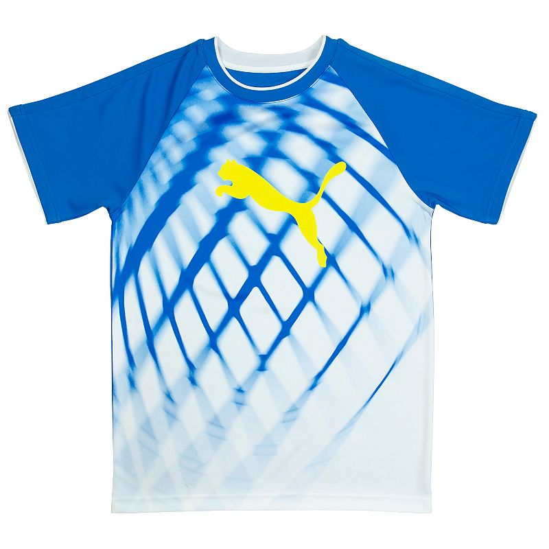 Boys 4-7 PUMA Sublimated Soccer Net Raglan Tee