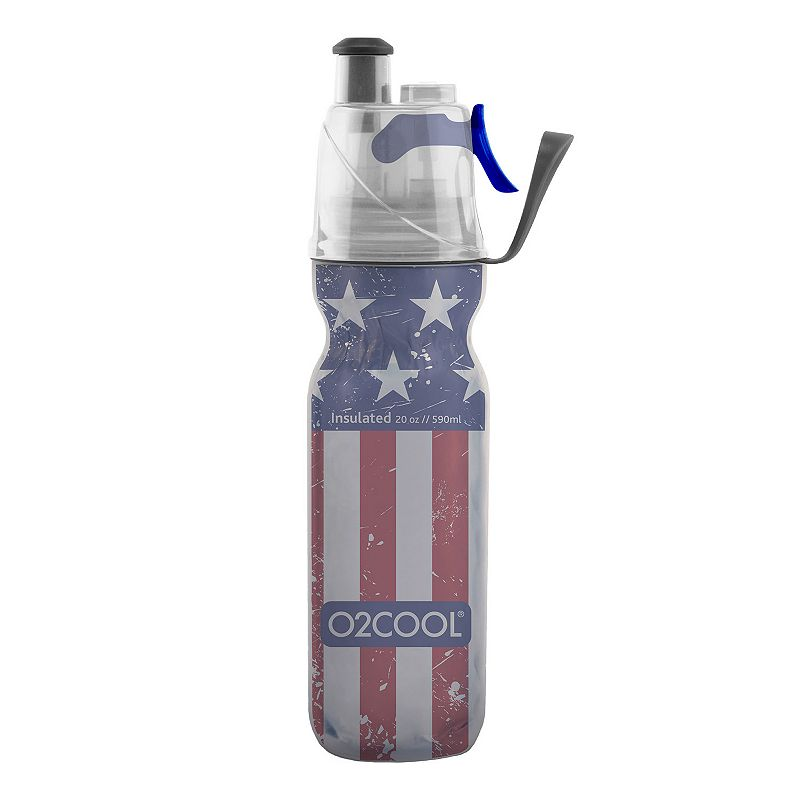 O2COOL Mist 'N Sip Arctic Squeeze Stars & Stripes 20-oz. Insulated Water Bottle