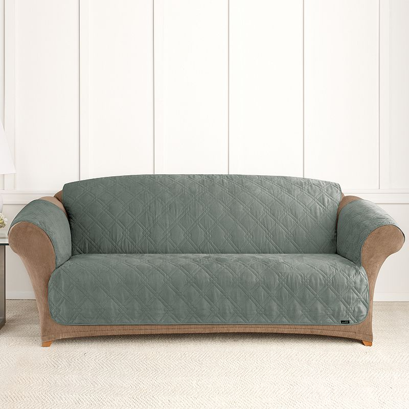 Sure Fit Furniture Friend Microfiber Non Skid Sofa Pet Cover Dealtrend