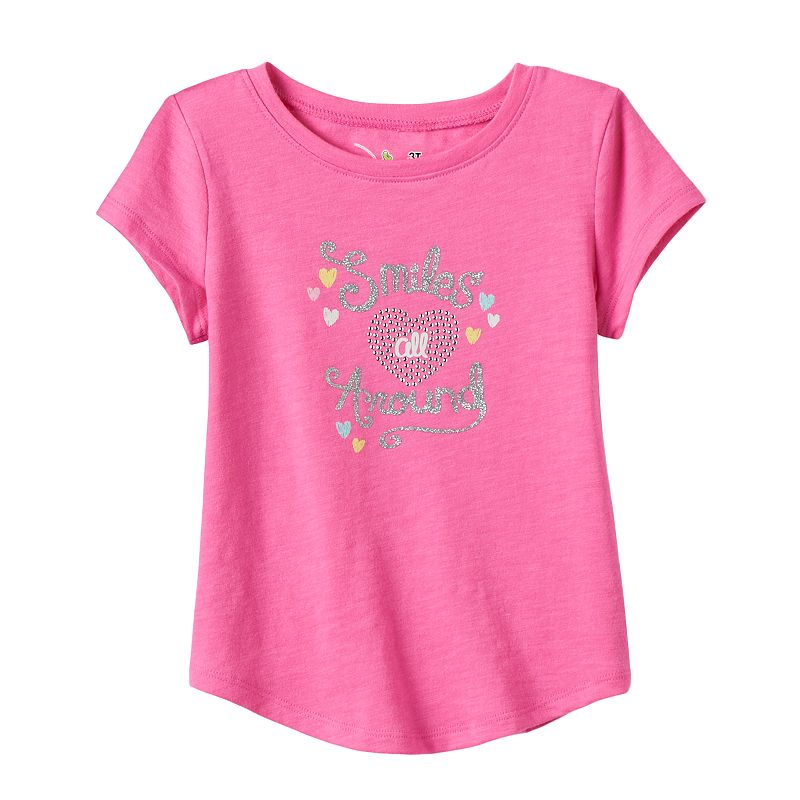 Toddler Girl Jumping Beans® Curved Hem Graphic Tee