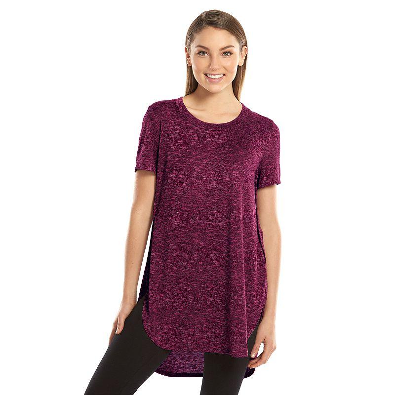Juniors' Mudd® Sweater-Knit Shirttail Tunic T-Shirt