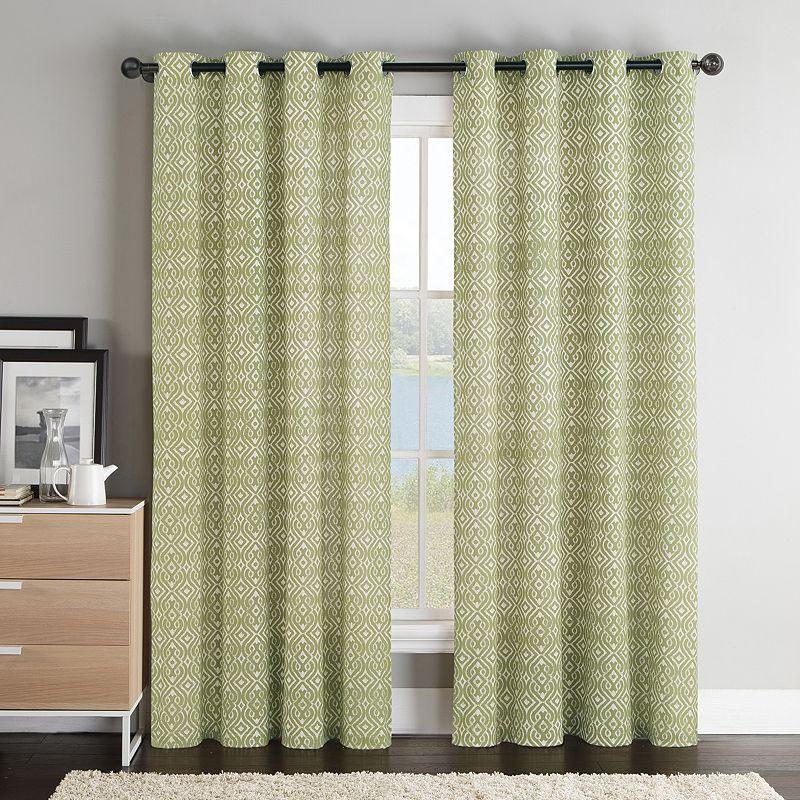 VCNY Brayden Geometric Curtain - 55'' x 84''