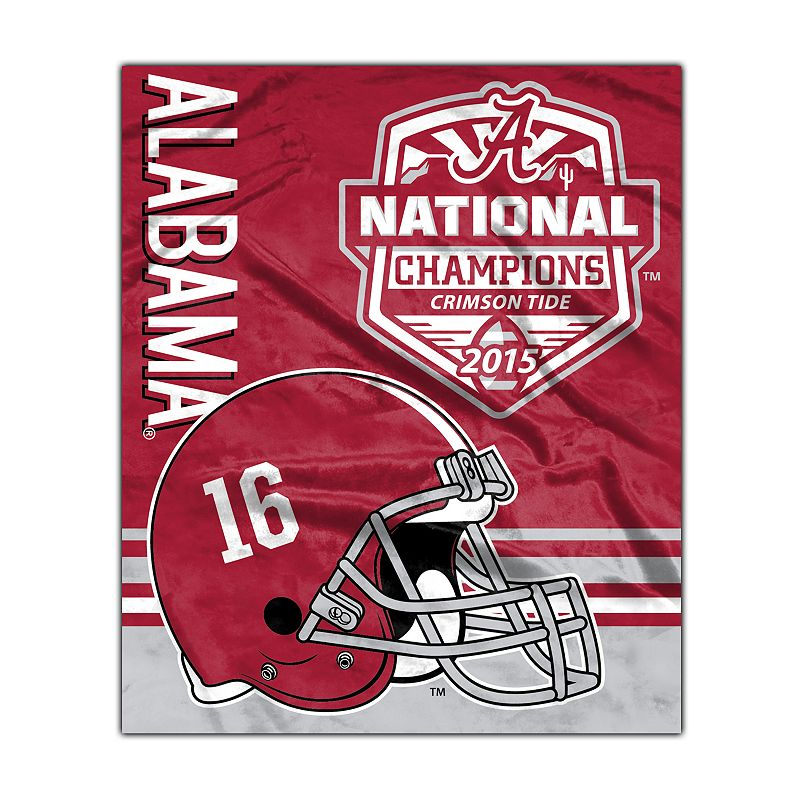Alabama Crimson Tide 2015 National Champions Silk Touch Throw