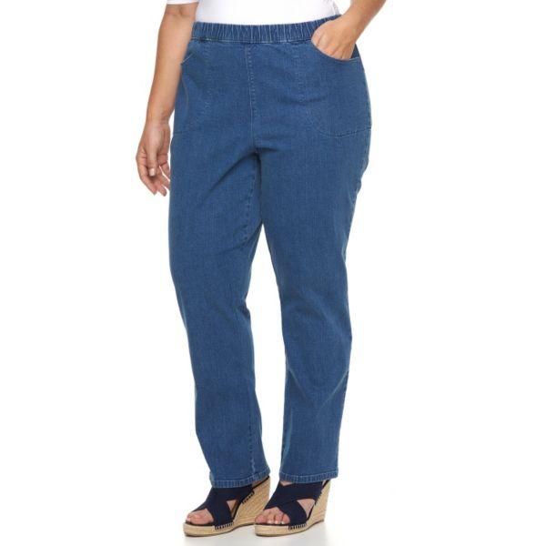 Plus Size Croft & Barrow® Pull-On Jeans