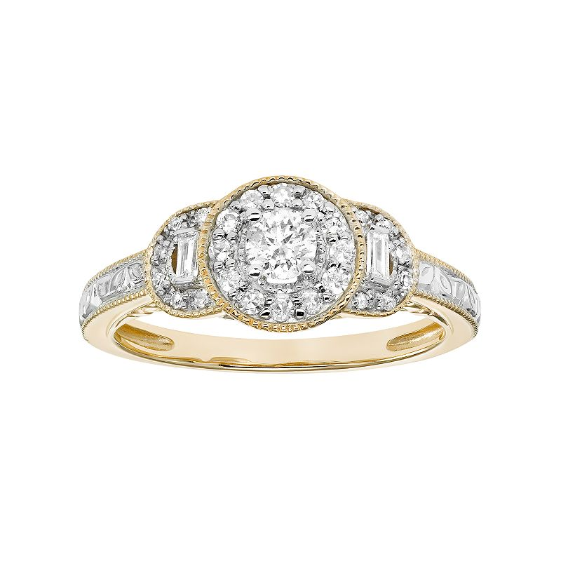 Simply Vera Vera Wang 14k Gold 3/8 Carat T.W. Certified Diamond Engagement Ring