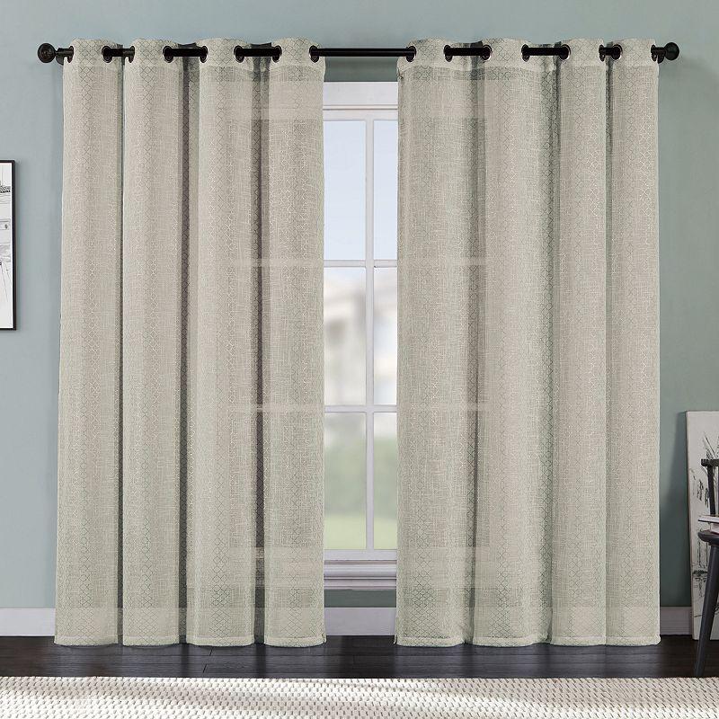 VCNY Ritz Metallic Faux Linen Curtain