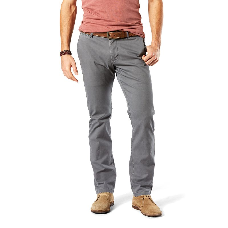 Men's Dockers Slim-Fit Flat-Front Washed Khaki Pants