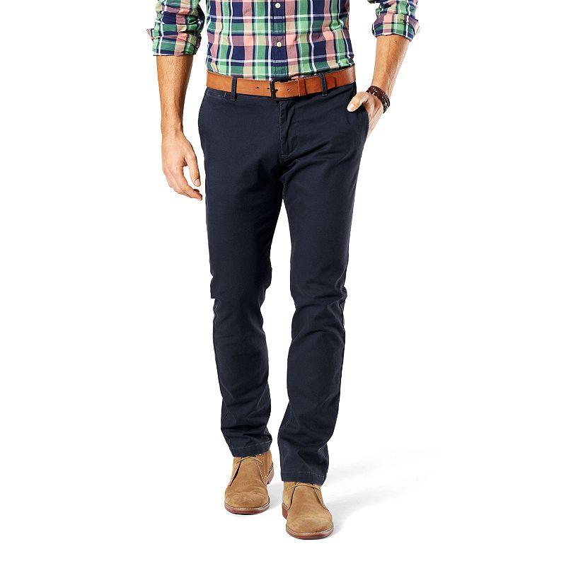Men's Dockers Slim-Fit Flat-Front Washed Khaki Pants