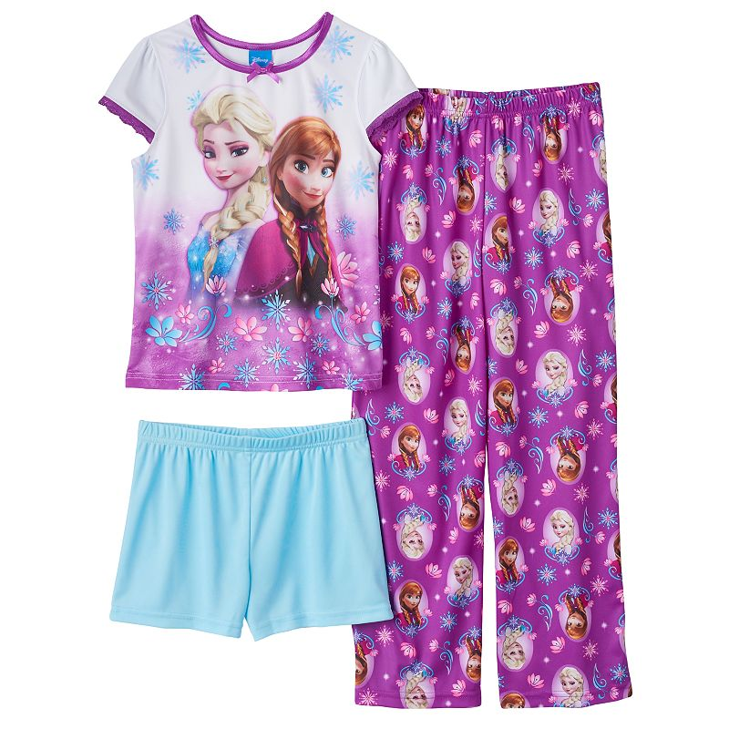 Disney's Frozen Girls 4-10 Anna & Elsa Floral Pajama Set