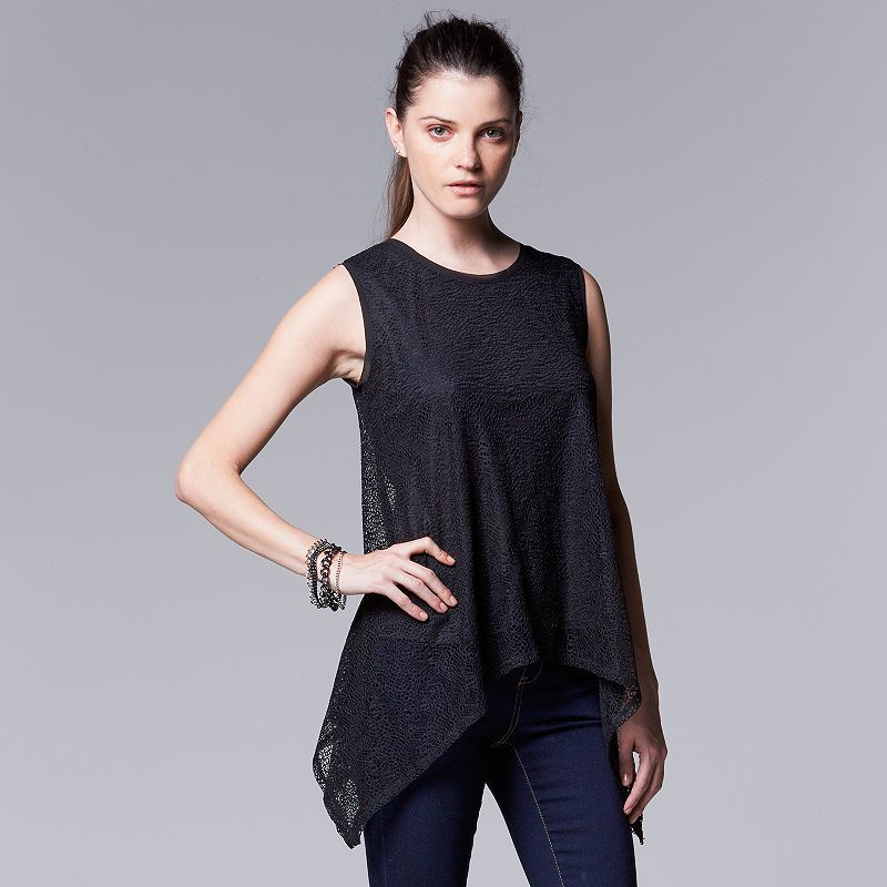 Petite Simply Vera Vera Wang Lace Top