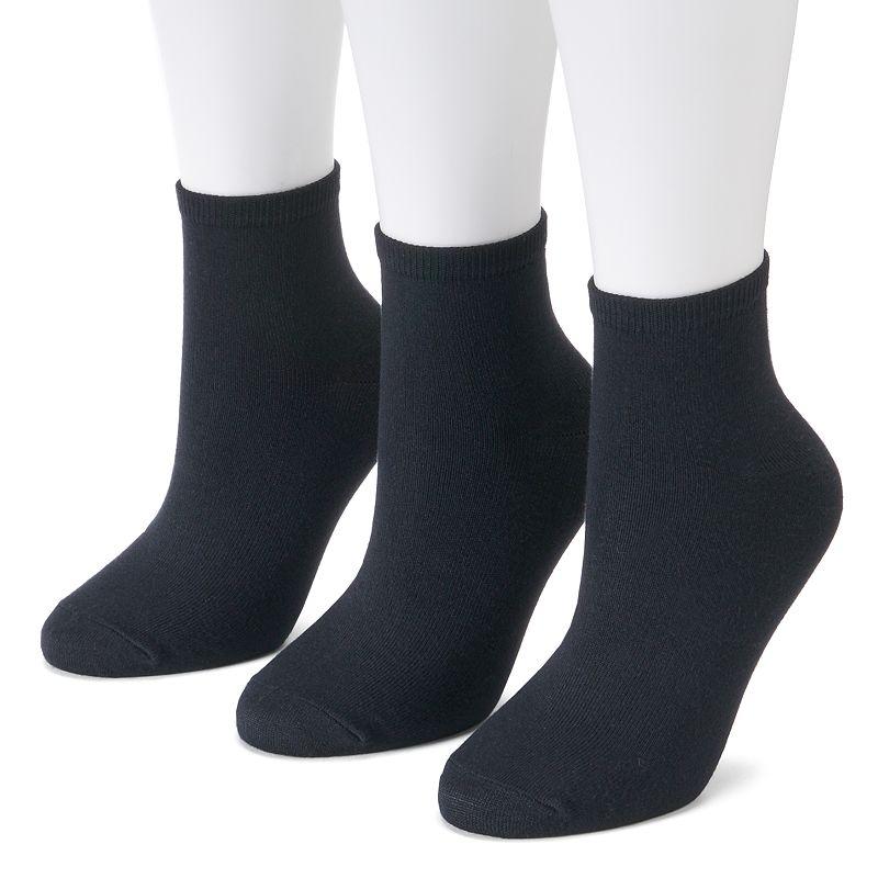Women's SONOMA Goods for Life™ 3-pk. Soft & Comfortable Ankle Socks