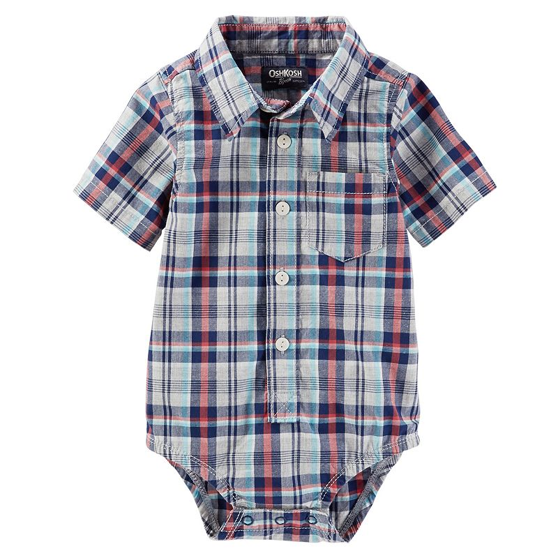 Baby Boy OshKosh B'gosh® Plaid Poplin Bodysuit