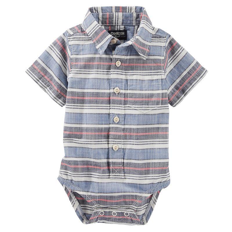 Baby Boy OshKosh B'gosh® Plaid Poplin Bodysuit