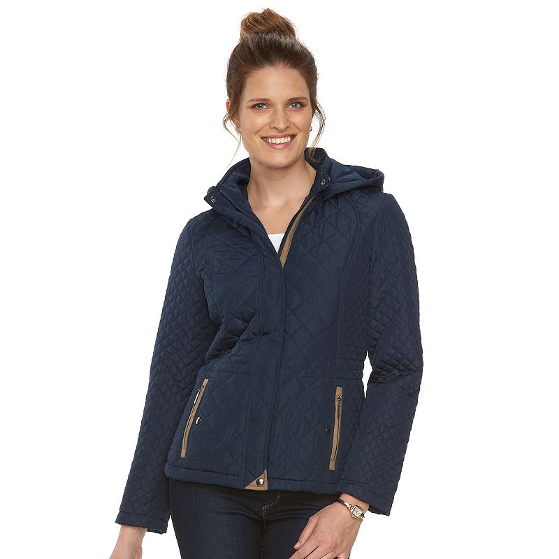 Women's Weathercast Multi Quilted Hooded Anorak Jacket