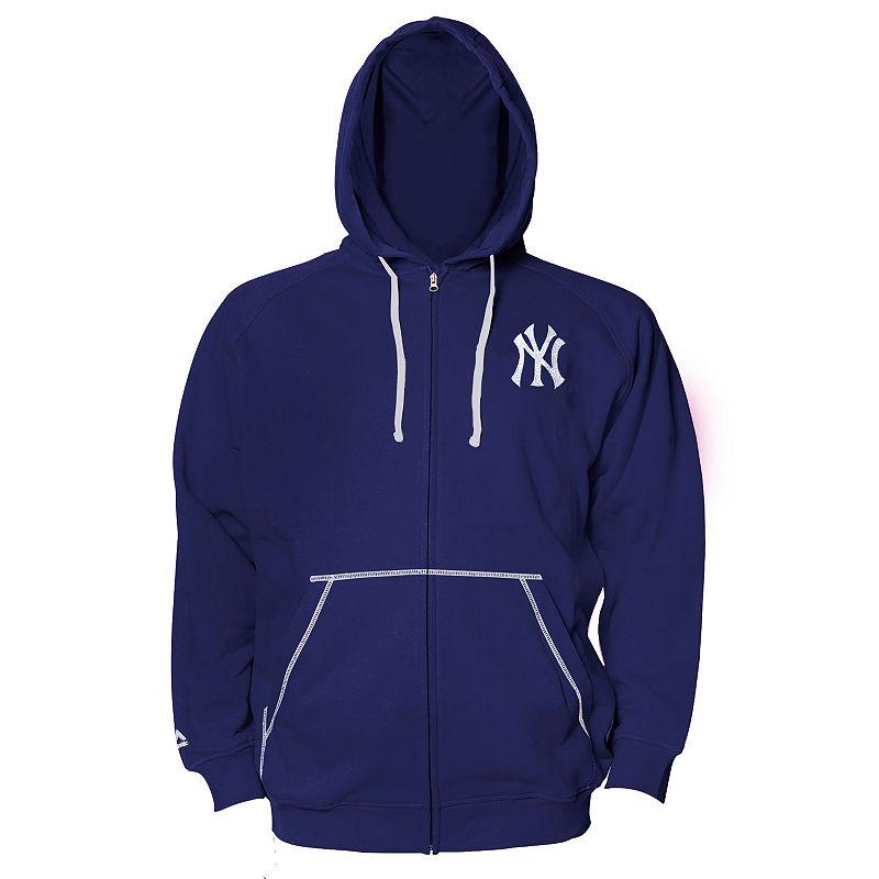 Big & Tall Majestic New York Yankees Full-Zip Fleece Hoodie