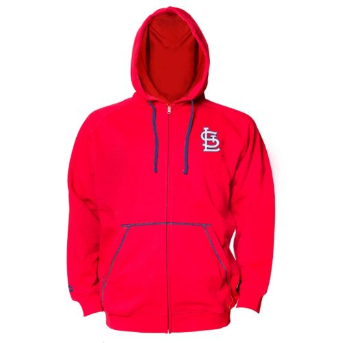 Big & Tall Majestic St. Louis Cardinals Full-Zip Fleece Hoodie