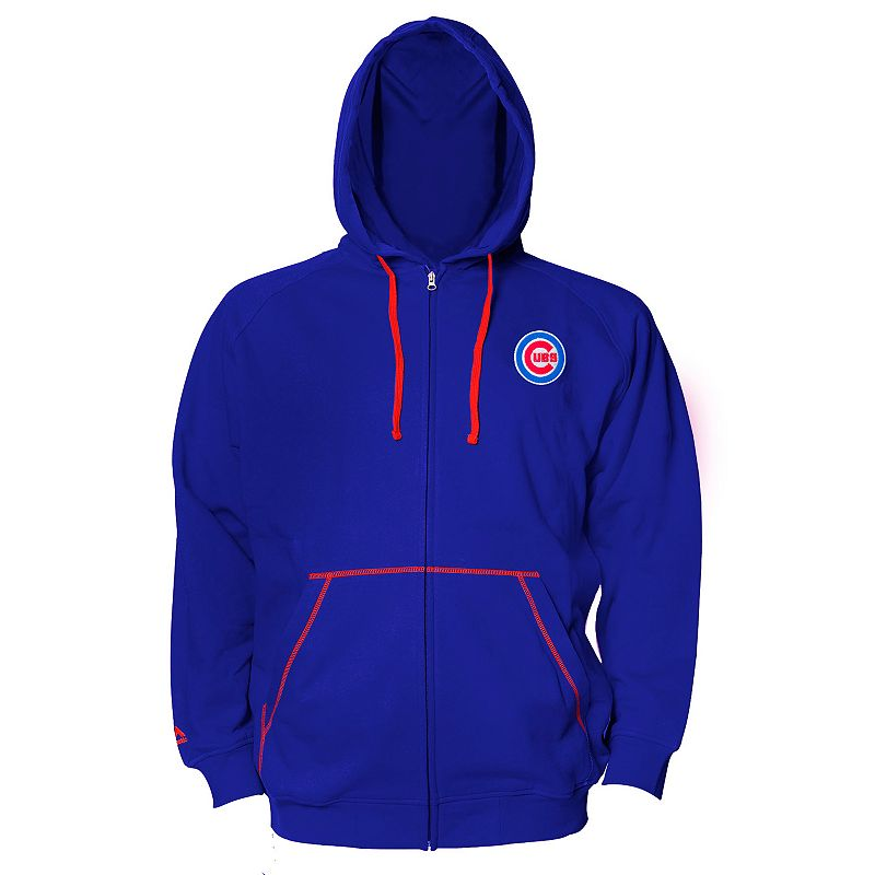 Big & Tall Majestic Chicago Cubs Full-Zip Fleece Hoodie
