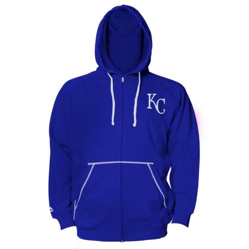 Big & Tall Majestic Kansas City Royals Full-Zip Fleece Hoodie