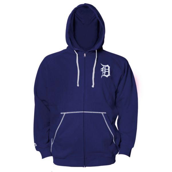 Big & Tall Majestic Detroit Tigers Full-Zip Fleece Hoodie