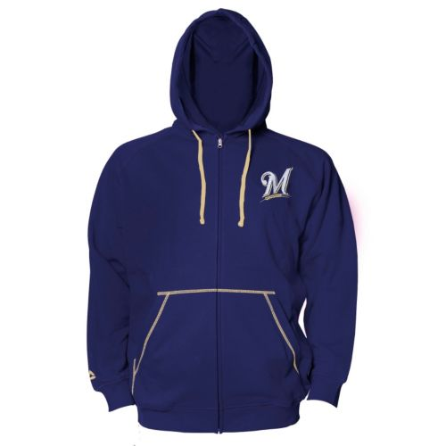 Big & Tall Majestic Milwaukee Brewers Full-Zip Fleece Hoodie