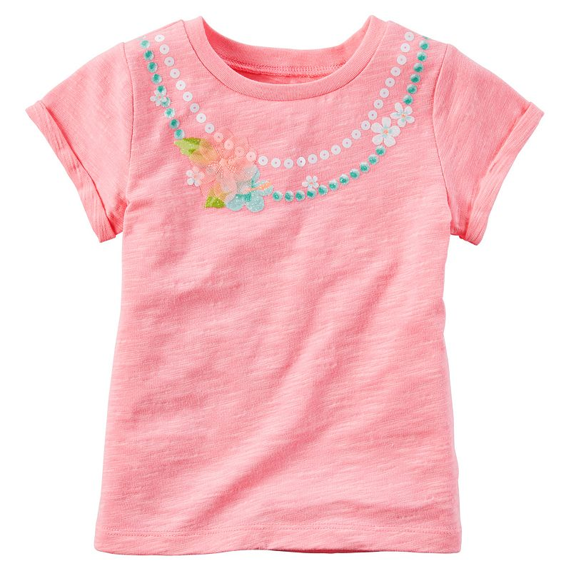 Girls 4-8 Carter's Floral Necklace Tee
