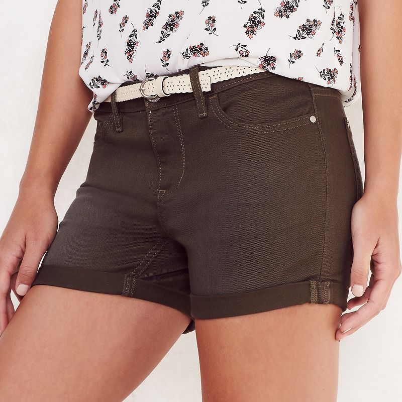 Women's LC Lauren Conrad Roll Cuff Jean Shorts