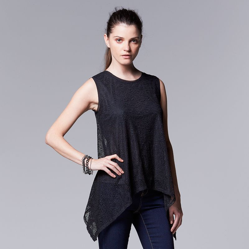 Women's Simply Vera Vera Wang Lace Top
