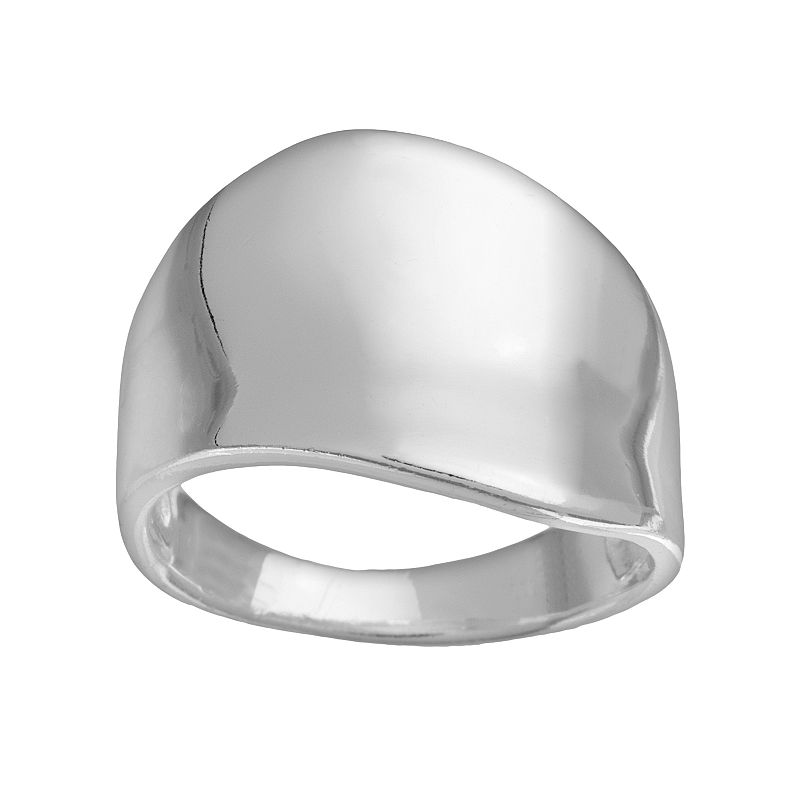 Sterling Silver Polished Wave Ring