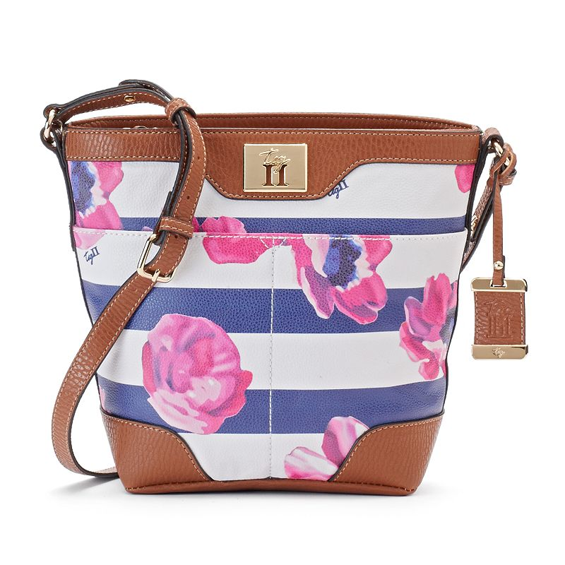 Tig II by Tignanello Avery Floral Stripe Crossbody Bag
