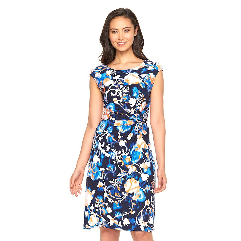 Women's Dana Buchman Print Twist-Front Dress