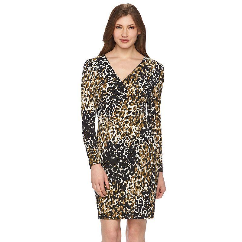 Women's Dana Buchman Printed Faux-Wrap Dress
