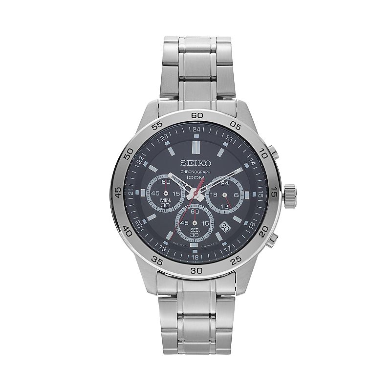 Seiko Men's Stainless Steel Chronograph Watch - SKS519