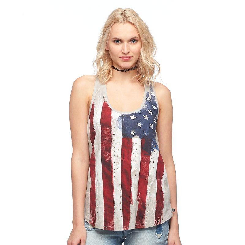 Women's Rock & Republic® American Flag Studded Tank
