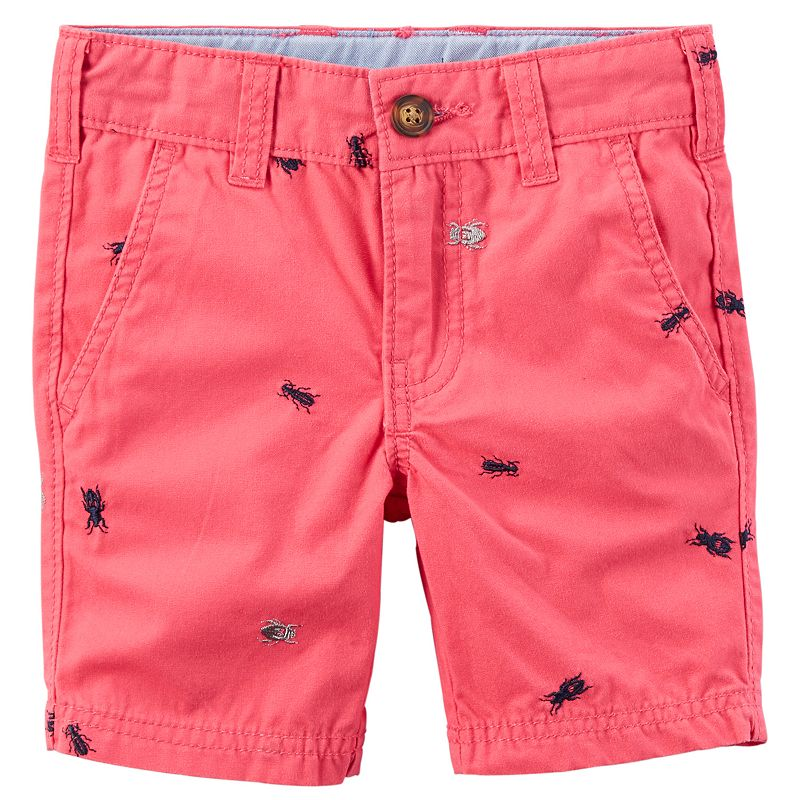 Boys 4-8 Carter's Embroidered Canvas Shorts