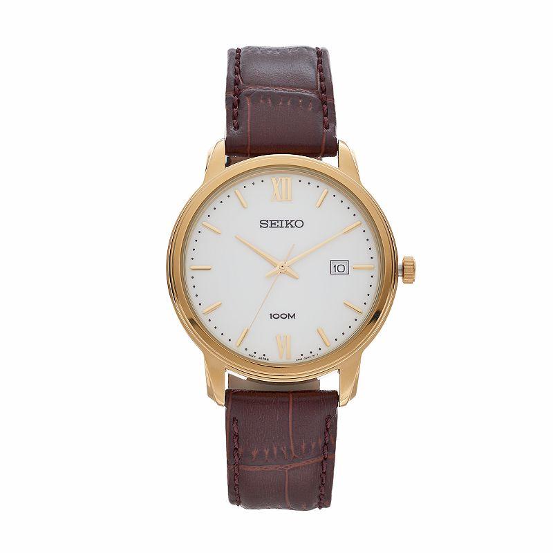 Seiko Men's Leather Watch - SUR202