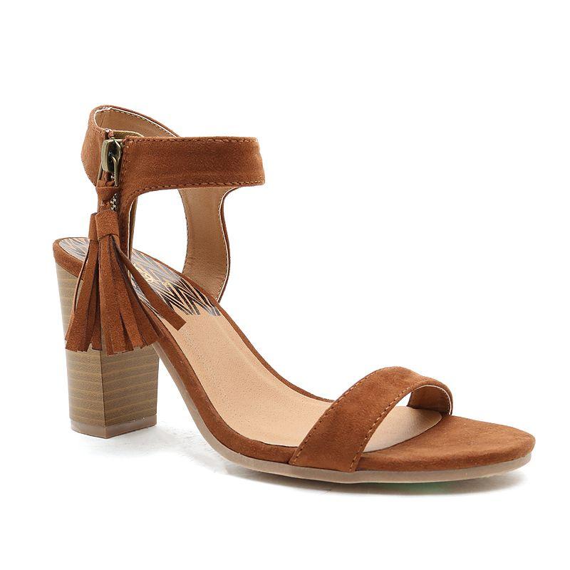 Qupid Lucite Women's Block-Heel Sandals