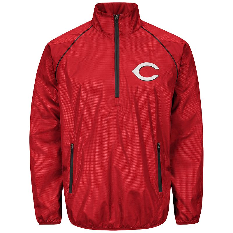 Men's Cincinnati Reds Player Lightweight Pullover Jacket