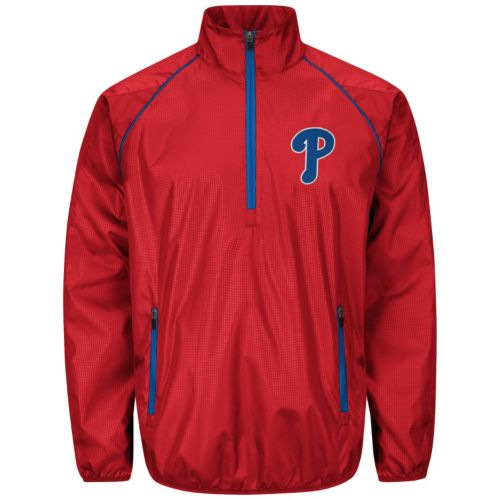 Men's Philadelphia Phillies Player Lightweight Pullover Jacket